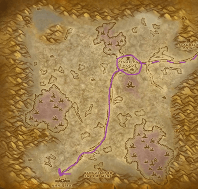 The entrance to the Ruins if Ahn'Qiraj
