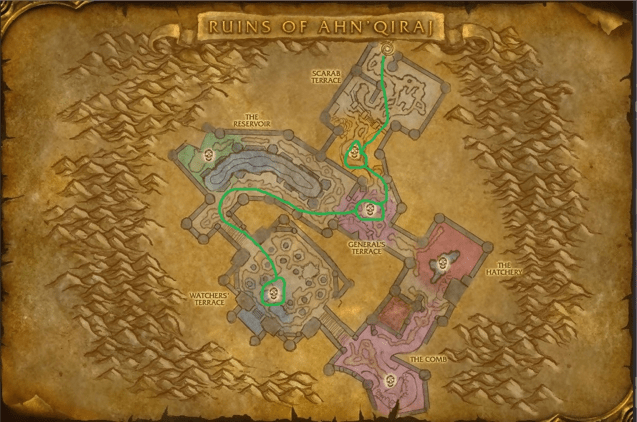 Navigating the ruins of Ahn'Qiraj